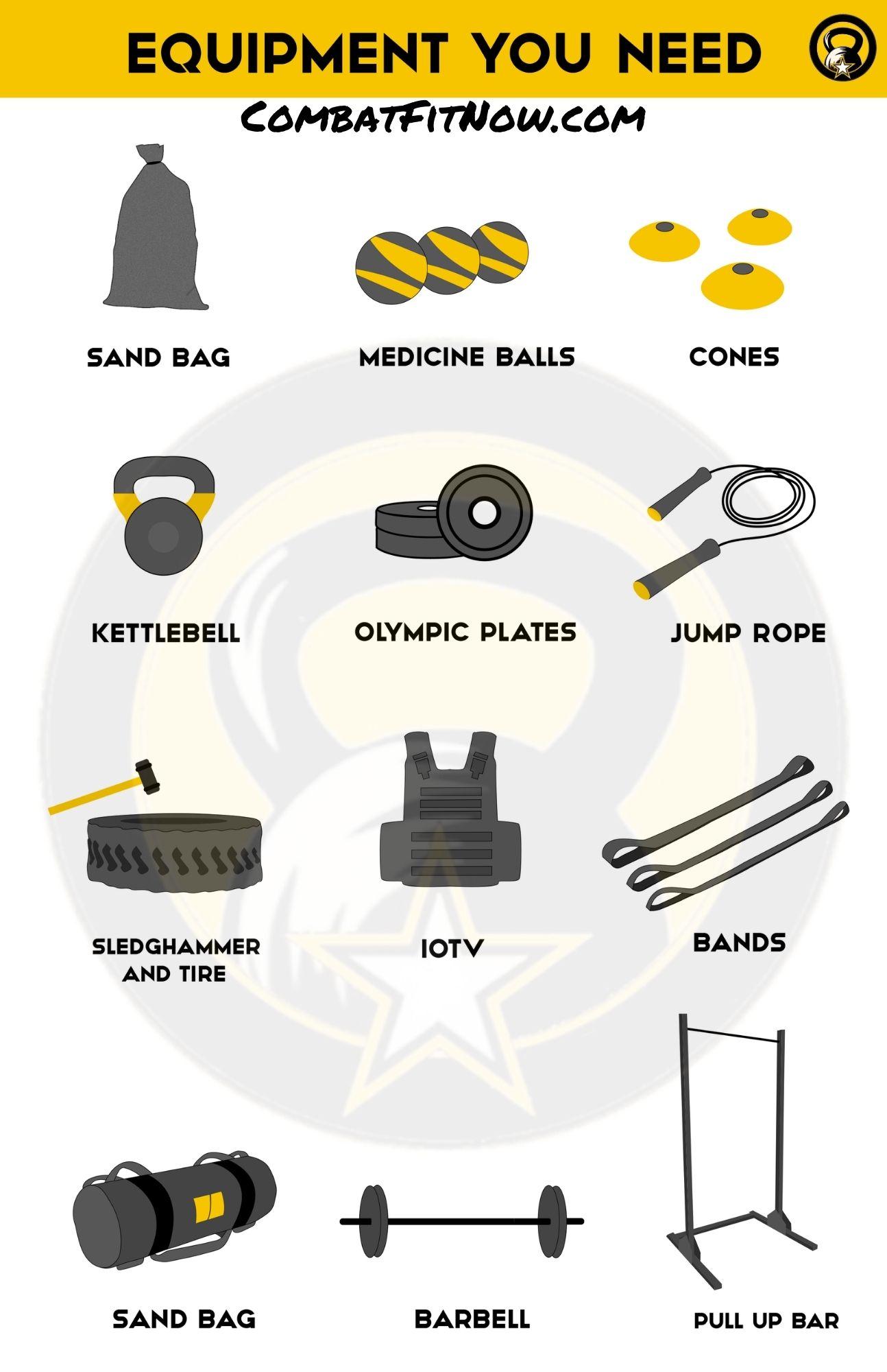 military exercise equipment